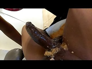 Ebony Slut Deepthroat Gag on Cock