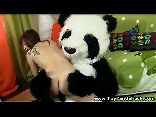 Teen girl banging hey toypandas bamboo