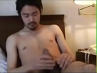 Asian guy jerk off