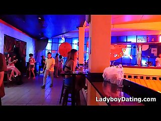 Cute Ladyboys in Bangkok Bar