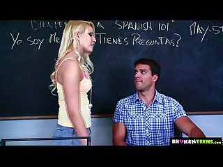 Brokenteens Vanessa cage has a crush on the spanish teacher