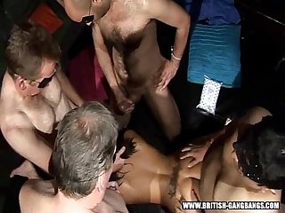 Doggy gang british amateur girls gangbang swingers party