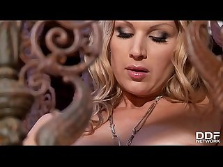 Busty babe carol masturbates her juicy pussy with glass dildo
