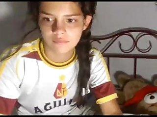 Amazing 18 years girl masturbate on cam