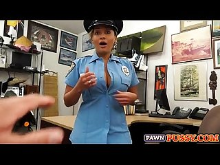 Police officer blowjob at pawnshop
