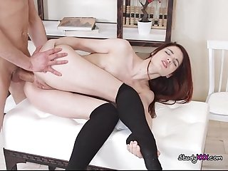 Young slut loveini lux experiences anal from tutor