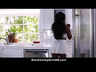 Preppy Black Teen Babe Daya Knight Fucks Her Horny Stepdad