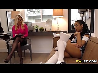 Ebony Kira Noir Cheats With Lesbian MILF India Summer