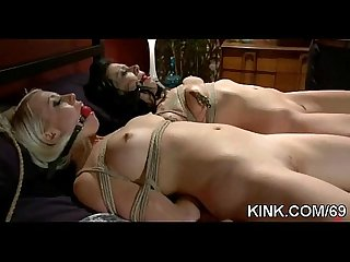 Hot pretty babe punished and fucked in bondage