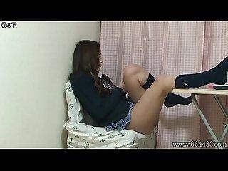 Upskirt the Japanese Schoolgirl Miniskirt from Under the Desk