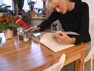 Mature blondes sex in kitchen