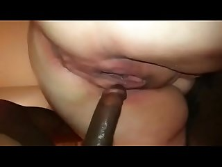 cheating housewife gets analized by a black rod