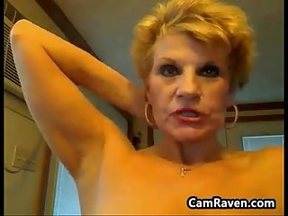 Naked grandmother teasing