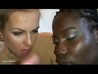Deutsches paar fickt ihre schwarze sexsklavin in der Dusche scout 18 com