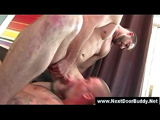 Jizz hungry jock gets hot mouthful