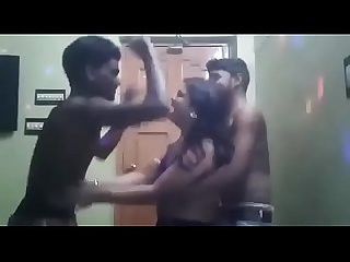 Indina aunty dancing with two boys