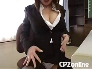 Busty japanese teacher masturbate caught by student then get fuck 1