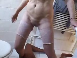 This cute granny really loves black cock amateur home made