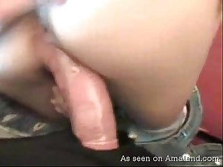 Sexy ass girlfriend gets jizzed on