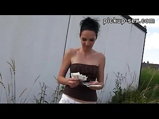 Sexy czech girl ebbi banged with a pervert stranger for money