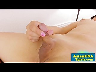 Tinydicked solo ladyboy from the usa jerking