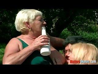 Drunken granny plumpers turning lesbian