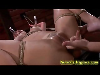 Toyed asian sub throated