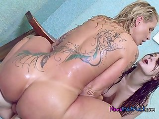 Stepfamily takes turns riding hung pool boy