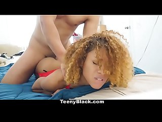 Teenyblack teeny black teen gives up pussy