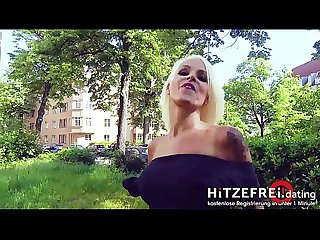 HITZEFREI.dating Blonde German MILF (47) hooked up on street (SOPHIE..