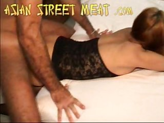 Cute thai cock sucker in sleazy hotel