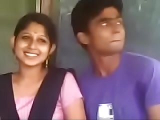 Beautiful Kerala girl boob press and kiss talking horny