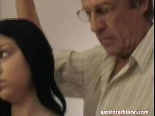 Old gropers young girl s big breasts grabbed by old man part1a