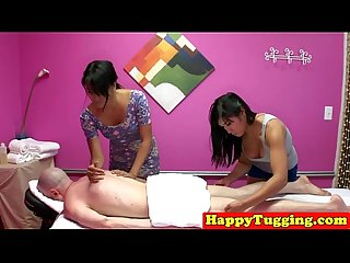 Massage threeway with facesitting and tugging