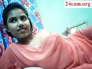 Cute Desi girl boobs show on cam part 1 24cam org