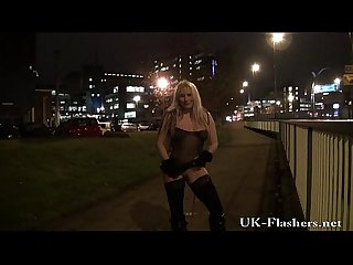 Kazb night of exhibitionism and blonde english pornstars public nudity