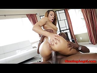 Nubian beauty models ass stretched by BBC