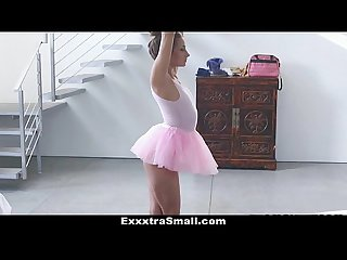 Exxxtrasmall tiny ballerina fucks her instructor