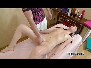 Brunette coed Alena is taking some dick from her masseur