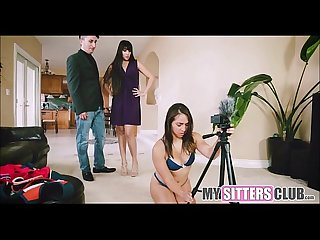 We caught the teen babysitter being a cam slut mysittersclub com