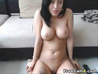 Beautiful Girl showing Perfect boobies and pussy