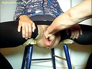 Mykinkyflix com old granny gets fist fucked in gaping cunt