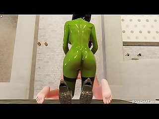 Animated Fantasy 3D Big Orc Cock Futa Shemale On Creamy White Girl