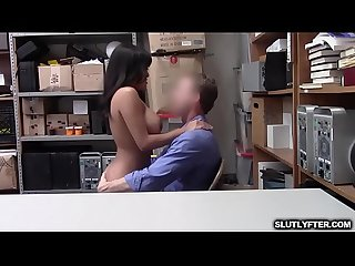Teens big tits bouncing as she pumps her tight pussy on top of the LP Officer throbbing rod!
