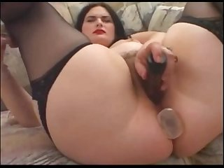 Chubby brunette likes anal sex