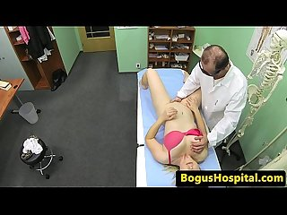 Busty Hospital patient cockriding her doctor