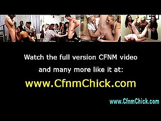 Naughty cfnm bitches make loser cum