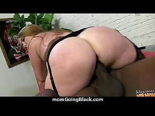 Mature Mom barely takes 10 inch Black Cock 6