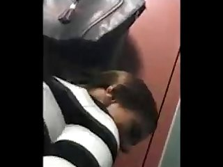 Slut Sucks & Fucks Guy She Just Met In Public Toilet