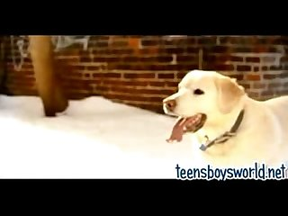 Fooling around on a winter day